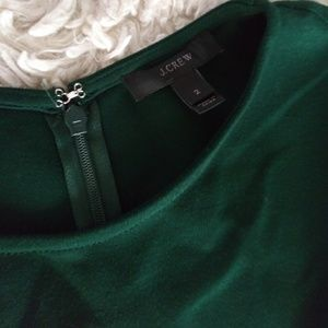 J. Crew Dresses - J. Crew Green pleated Ponte dress size 2